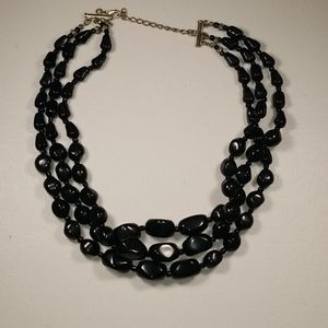Jewelry - Black Beaded Triple Layer Necklace
